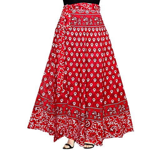 Silver Organisation WOMENS COTTON WRAP AROUND WESTERN WEAR SKIRTS