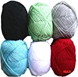 #6: Vardhman Bunny Mix Wool ball hand knitting yarn / art craft soft fingering crochet hook yarn, needle knitting yarn thread dyed 3rd…
