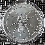 1oncia argento Imbuto rete ragno Spider 2015oz moneta d' argento in monete capsula