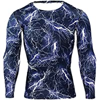 Mxssi Männer Kompressionsshirt Langarm Shirt Funktionsshirt Herren Thermo Pullover Fitness Shirt Gym Laufshirt Baselayer Compression T-Shirt Lightweight Unterwäsche M - 3XL