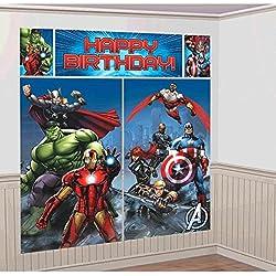Amscan Internacionales Avengers escena Setters Kit de decoración