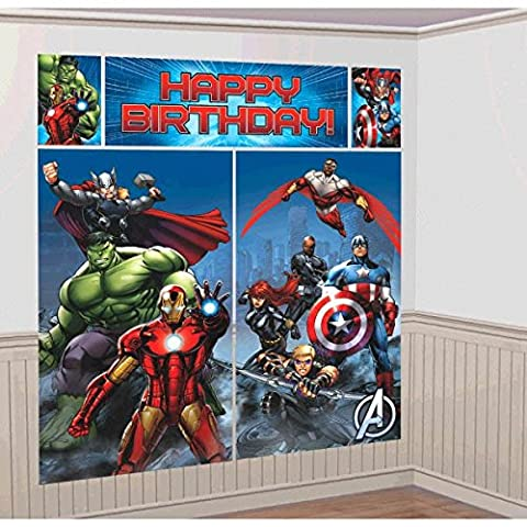 Amscan International Kit de décoration Avengers Scene Setters