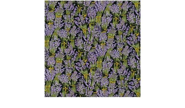 Fat Quarter Lavender Flowers Cotton Quilting Fabric  Nutex
