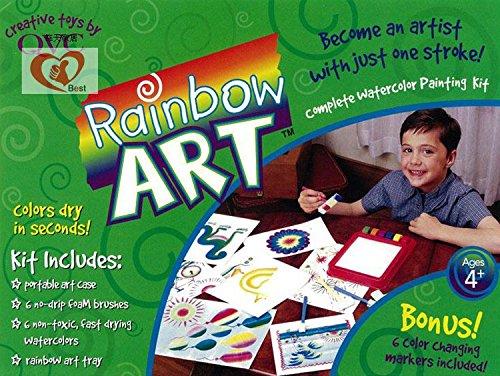 Rainbow Art Malset 17-teilig Wasserfarben-Set Kinder-Regenbogen