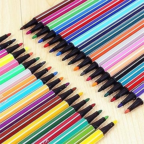 Vi.yo 24 pièces Encre stylo Gel Highlighters Pour Coloriage Et Handwork Sequins Et Styles Pastel Multiple Color