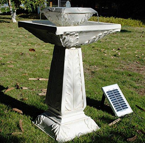 small solar powered water feature outdoor bird bath fountain victorian design pc222 - Solar Powered Fountain