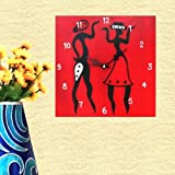 Kalaplanet Wooden Wall Clock - Couple