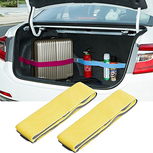 Kofferraum Organizer Auto Organizer Gurte - SEAMETAL Sports Ausrüstung Organizer Idee für Gepäck Feuerlöscher Kfz-Geräte