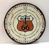 Orologio da muro rotondo Route 66 con cornice in metallo,diametro cm60