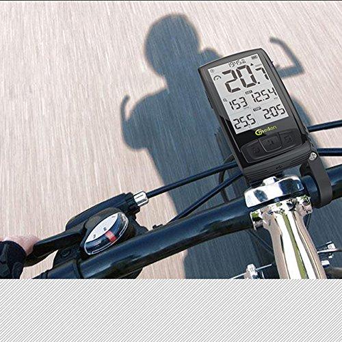 Colinsa Fahrradcomputer Kabellos Fahrradtacho Drahtloser Stoppuhr Radcomputer, LCD Fahrrad Tachometer, Kalorien,für Tracking Geschwindigkeit und Distanz,Schwarz