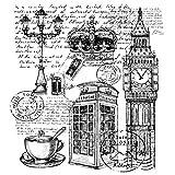 Feinkontur-Stempel, 15 x 15 cm, London | Scrapbooking, Handwerk, Heimwerk, DIY, Grußkartengestaltung