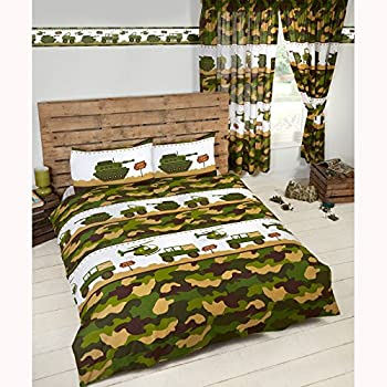 parure de lit housse de couette 140 x 200 cm taie militaire camouflage arm e cuisine. Black Bedroom Furniture Sets. Home Design Ideas
