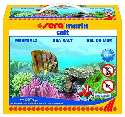 Sera 05440 marin salt 3900 g - Meersalz für Osmose- und Leitungswasser, schnell und rückstandslos löslich - nitrat-, silikat- und phosphatfrei