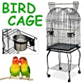 Beyondfashion Large Pet Bird Budgie Canary Aviary Parrot Cage African Grey Cockatiels African Macaw Parakeet Budgie Open Top Perches Stand Cage from Beyondfashion