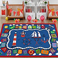 XJ&Hom Alphabet Numbers Kids Rug Play Mat Extra Large Non-Slip Durable Kids Play Area Rugs for Livingroom Playroom Nursery