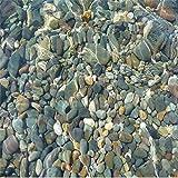 Lqwx Realistisches Wasser pebble Bodenfliesen 3d-Bodenbeläge wasserfeste Selbstklebende Boden Malerei Tapeten beschichtetes Papier für Wandplakate-120cmX100cm