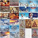 100-er Weihnachtskarten-Box WEIHNACHTEN von Edition Colibri: Postkarten-Set mit einem bunten Mix an Weihnachtskarten mit 25 verschiedenen Motiven á 4 St. in einer edlen Verpackung (10642-10831)