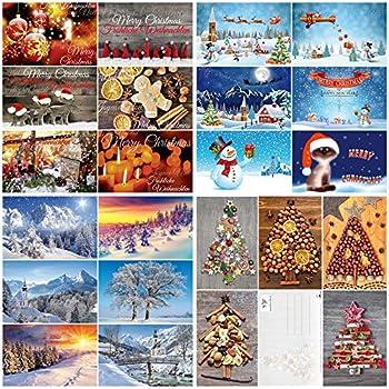 weihnachtskarten set 4 24 motive ein bunter mix aus. Black Bedroom Furniture Sets. Home Design Ideas