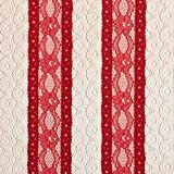Fabulous Fabrics Spitze Blumenkreise – rot — Meterware