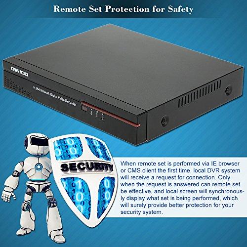 OWSOO-4CH-DVR-Full-960HD1-Grabador-de-Video-H264-P2P-Network-CCTV-Control-Mvil-AndroidiOS-Deteccin-de-Movimiento-Alarma-Email-para-Cmara-Vigilancia