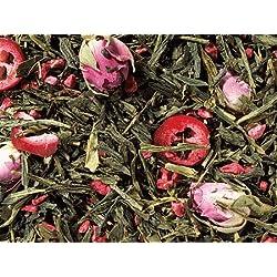 1kg - grüner Tee - Sencha - Cranberry Rose - aromatisierte Grüntee-Mischung