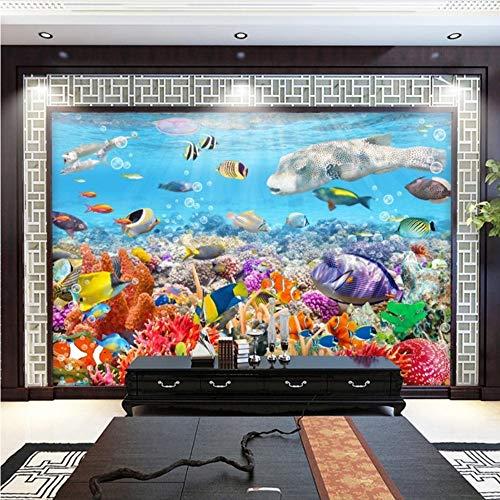 Meaosy Benutzerdefinierte Mural Tapete Unterwasserwelt Bunte Korallenrote Wand Dekorationen Wohnzimmer Sofa Tv Hintergrund Foto Tapete 3D Benutzerdefinierte-200X140Cm
