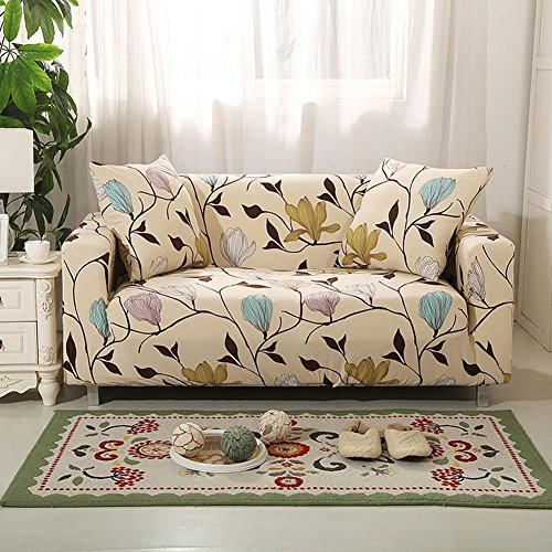 Abdeckungen Sofa Tight Wrap All-Inklusive Slip-resistenten Querschnitt Elastische Full Sofa Cover Handtuch 1/2/3 Sitzer , 002 , 1 seater:90-140cm (Sofa Slip Cover)