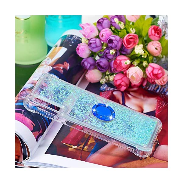 FAWUMAN Liquid Sparkly Quicksand TPU Gel Silicone Shockproof Phone Cover[Diamond Ring] Cases for Samsung Galaxy A7 (2018) / A750 (Silver light blue stars) FAWUMAN 1.Compatible Model: Samsung Galaxy A7 (2018) / A750, glitter liquid case specially for teenage, girls and women. 2.3D Quicksand creative cover, make your mobile phone Shiny Luxury Sparkle Glitter around.the inside quicksand flowing freely, make your mobile phone special and gorgeous, bring more fun to you. 3.Made of hight quality TPU: Scratch resistant and shock absorbent soft TPU covers all four corners offering all around shock absorbent drop protection keeping phone safe from dents, scratches, and other daily wear. 6