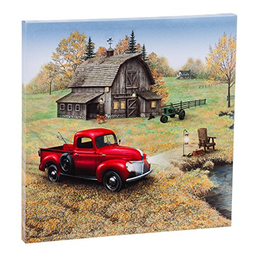 Cypress Home Kunstdruck auf Leinwand Vintage Farm Truck & Haus LED Licht (Outdoor-wand-kunst-szene)