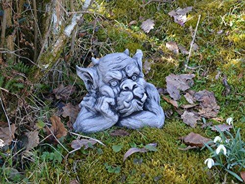 Massive Steinfigur Gargoyle Büste IV Torwächter Gartendeko aus Steinguss frostfest