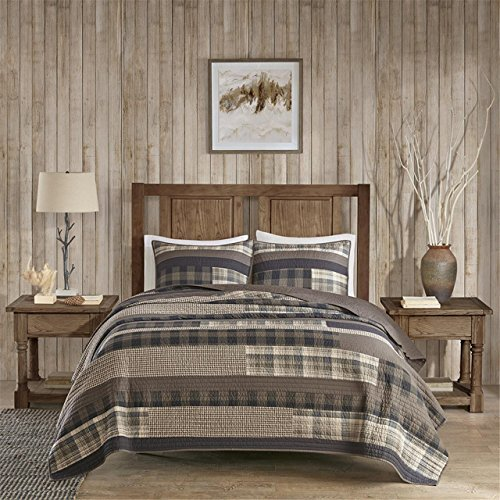 Woolrich WR14-1727 Winter Plains Quilt Mini Set King/Cal King Taupe,King/Cal King by Woolrich