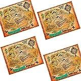German Trendseller® - 4 Carte au trésor ┃ pour Enfants ┃Pirate...