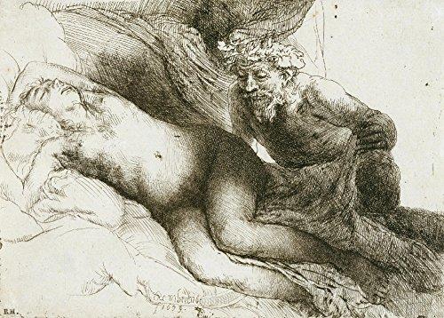 rembrandt-jupiter-et-antiope-environ-1659-sur-format-a3-papiers-brillants-de-250g-affiches-de-reprod
