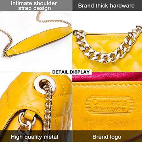 Contacts, Borsa a tracolla donna Yellow