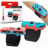 Wrist Bands for Just Dance 2021 2020 2019 and Zumba Burn It Up for Nintendo Switch Controller Game, Adjustable Elastic Strap