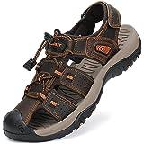 FLARUT Sandali Estivi Uomo Esterni PelleTraspirante Sandali Sportivi Scarpe da Trekking Passeggiata Fisherman Casual Sneakers