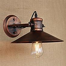 BJVB Pasillo de Vintage Industrial Metal óxido rústica lámpara luz Retro pared aplique modernas lámparas y cortinas de lámpara cabecera