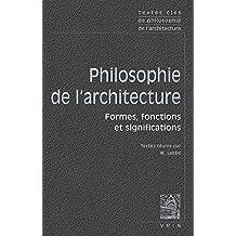 Textes clés de philosophie de l'architecture
