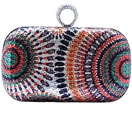 KAXIDY Damentasche Tasche Unterarmtasche Handtasche Abendtasche Brauttasche Handtasche mit Strass für Party Hochzeit Gold