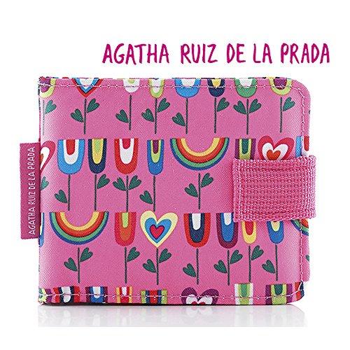 Agatha Ruiz de la Prada, Porte-monnaie Mixte Rosa 11 cm