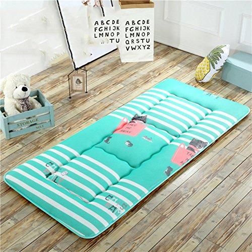 HYXL Zusammenklappbare Tatami-matten Floor Mat Sitzkissen,Sommer Atmungsaktives Kissen matratze Student mehrbett Schlafzimmer Faltbare isomatte Bett-Protector-G 80x190cm(31x75inch)