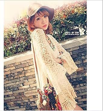 Five Season Tunique/mini robe vintage à franges pour femme - Style hippie, bohémien, vintage