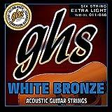 GHS WBXL Jeu de 6 Cordes pour Guitare acoustique Extra Light