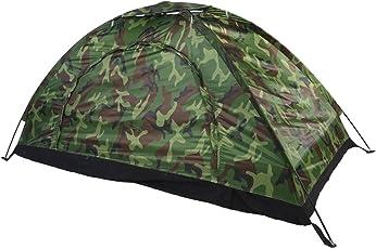 Asixx Camping Zelt, Outdoor Wurfzelt für 1 Person Wasserdicht und UV-Schutz bis zu 40+ für Camping, Wandern, 200 x 100 x 100 cm