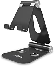 tizum Anodized Aluminum Adjustable Foldable Stand for All Smartphones, Z12