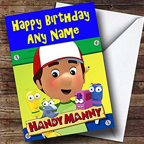 Personalised Handy Manny compleanno scheda