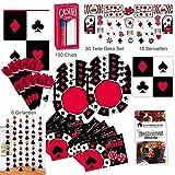 Amscan Poker Casino Abend Party Deko Set XL 236-teilig für 8 Gäste Pokerset Partypaket