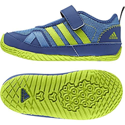 Adidas Sport Performance Kid's Boat Plus AC Running Sneakers, Blue Textile, 9.5 Toddler M