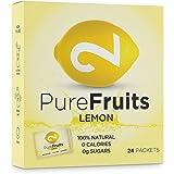 DUAL Pure Fruits Lemon | 100% naturel |Du Vrai Jus de Citron | Enrichi en Vitamine C|24 Sachets| 2g par Sachet|Jusqu'à 52 litres de Jus|Lab Certifié |Sans Sucre|Sans Additifs|Fabriqué dans l'UE
