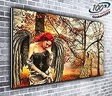 Canvas Gothic Engel Angel von Canvas35Panoramadruck XXL Bild 127x 50,8cm über 4breit x 1,5Fuß hoch fertig zum Aufhängen Umwerfende Qualität, Leinwand, mehrfarbige,